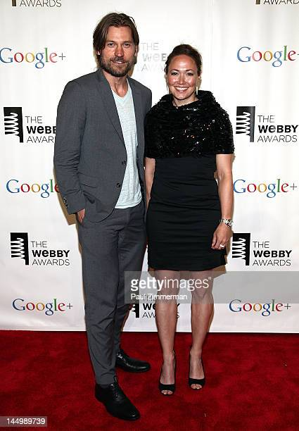 Nikolaji Coster-Waldau and Ella Grodem attend the 16th Annual Webby Awards at Hammerstein Ballroom on May 21, 2012 in New York City.