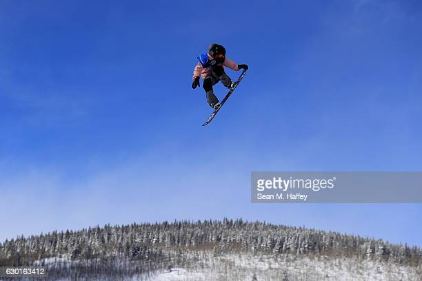 Nikolas Baden competes in the final round of the FIS Snowboard World Cup 2017 Men's Snowboard Big Air during The Toyota US Grand Prix at Copper...