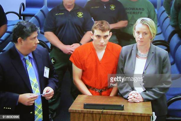 Nikolas Cruz a former student at Marjory Stoneman Douglas High School in Parkland Florida where he allegedly killed 17 people is seen on a closed...