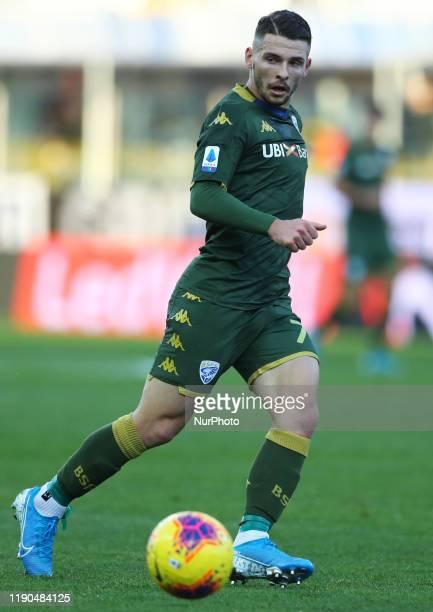 Nikolas Spalek of Brescia during the football Serie A match Parma v Brescia at the Tardini Stadium in Parma Italy on December 22 2019