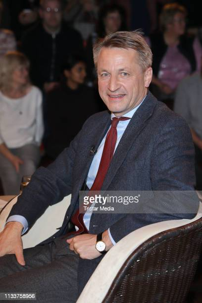 Nikolaus Blome during the Markus Lanz TV show on March 4 2019 in Hamburg Germany