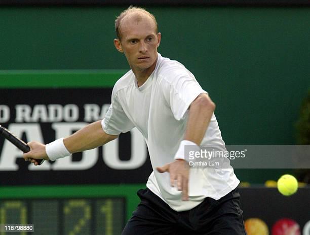 Nikolay Davydenko in action against Nathan Healey third round Australian Open, Melbourne, Australia on January 21, 2006