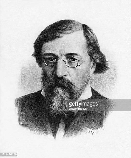 Nikolay Gavrilovich Chernyshevsky *2407182829101889 philosopher writer publicist socialist Russia portrait date unknown drawing by A Prutski