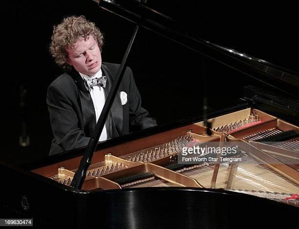Nikolay Khozyainov of Russia plays at Bass Hall in the 14th Van Cliburn International Piano Competition Wednesday May 29 in Fort Worth Texas