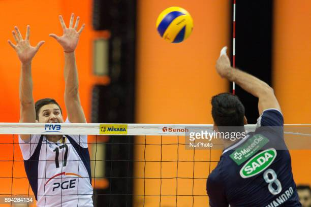 Nikolay Penchev Evandro M Guerra during FIVB Volleyball Men's World Championship 3rd place match between Skra Belchatow and Sada Cruzeiro on 17th...