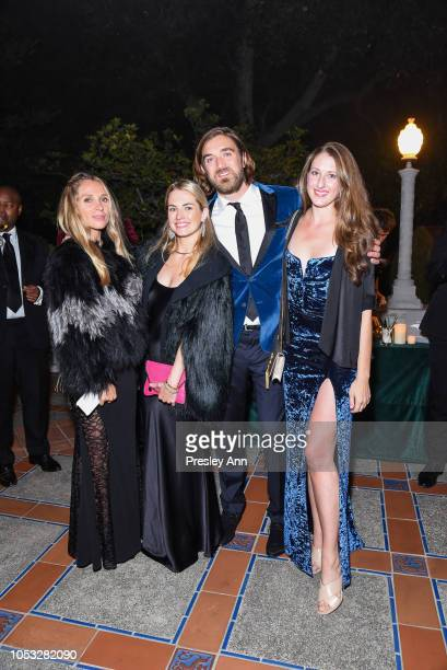 Nikole Powers Amanda Hearst Ben Berube and Allison Luvera attend Hearst Castle Preservation Foundation Hollywood Royalty Dinner at Hearst Castle on...