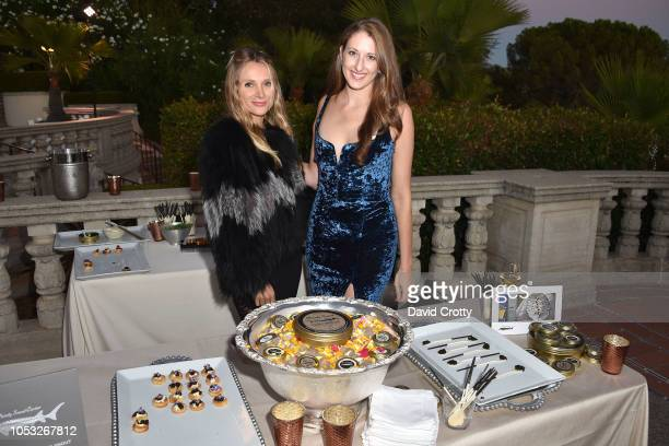 Nikole Powers and Allison Luvera attend Hearst Castle Preservation Foundation Hollywood Royalty Dinner at Hearst Castle on September 28 2018 in San...
