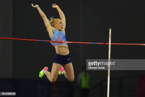 Nikoleta Kiriakopoulou of Greece in the women's pole vault during the Muller Indoor Grand Prix at Emirates Arena on February 25 2018 in Glasgow...