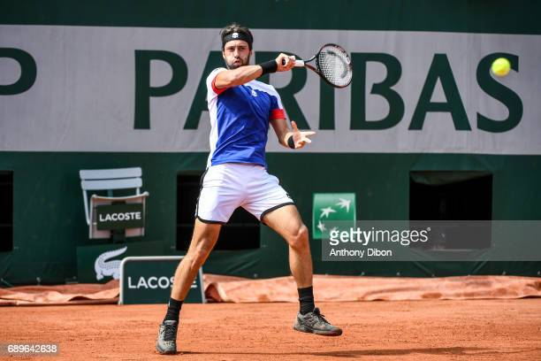 Nikoloz Basilashvili during first round on day 2 of the French Open at Roland Garros on May 29 2017 in Paris France