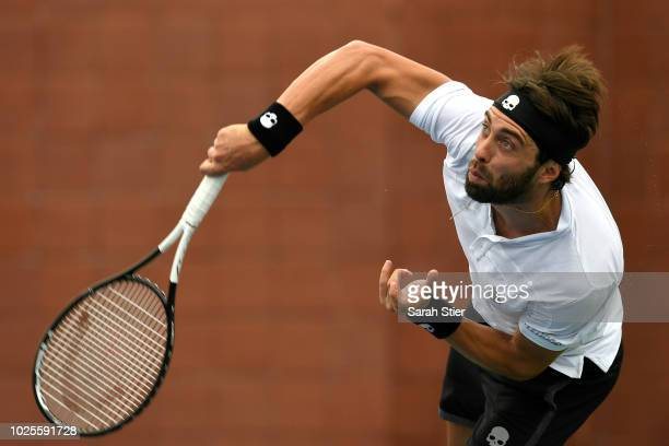 Nikoloz Basilashvili of Georgia during his men's singles third round match against Guido Pella of Argentina on Day Five of the 2018 US Open at the...