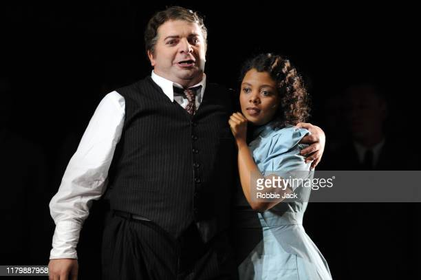 Nikoloz Lagvilava as Rigoletto and Vuvu Mpofu as Gilda in Giuseppe Verdi's Rigoletto directed by Christiane Lutz and conducted by Thomas Blunt at...