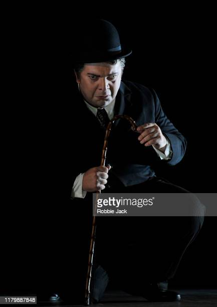Nikoloz Lagvilava as Rigoletto in Giuseppe Verdi's Rigoletto directed by Christiane Lutz and conducted by Thomas Blunt at Glyndebourne Opera House on...