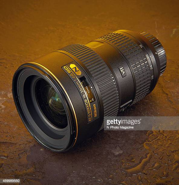 A Nikon AFS 1635mm f/4G ED VR lens photographed for a feature on wide angle lenses compatible with fullframe Nikon cameras taken on March 26 2014