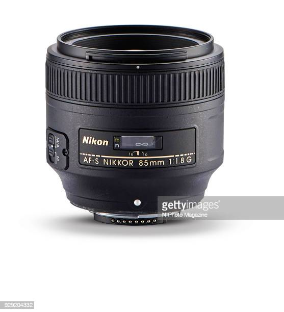 A Nikon AFS 85mm f/18G prime camera lens taken on January 10 2017