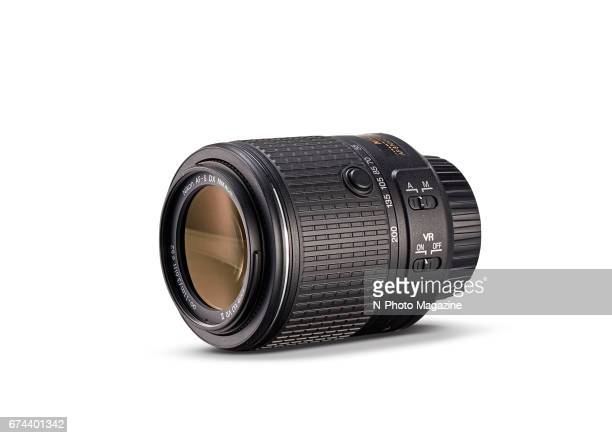 A Nikon AFS DX 55200mm f/456G ED VR II superzoom camera lens photographed for a feature on travelfriendly lenses taken on April 23 2016