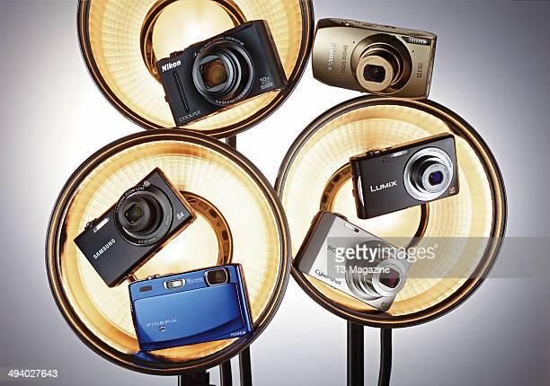 Nikon Coolpix S8100, Canon Ixus 310 HS, Panasonic Lumix DMC-FS18, Sony Cyber-Shot WX10, Fujifilm Finepix Z900EXR and Samsung SH100, taken on August...