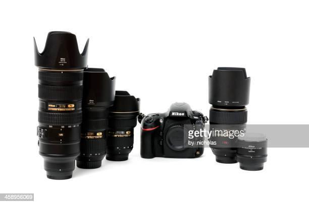 nikon d800 with nikkor 14-24, 24-70, 70-200, 105, tc-20e iii - nikon stock pictures, royalty-free photos & images