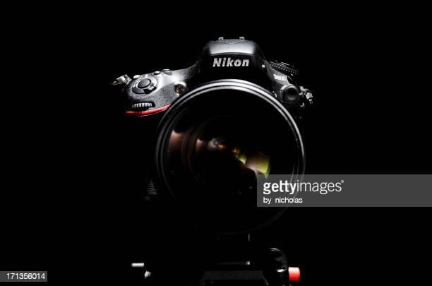 nikon d800 with nikkor 70-200 vrii lens - nikon stock pictures, royalty-free photos & images