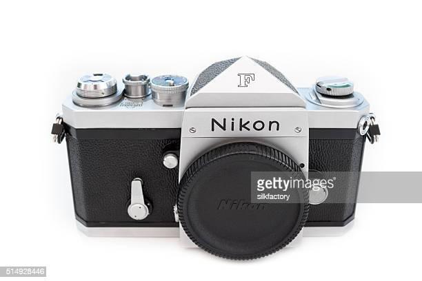 nikon f (apollo) 35mm single-lens reflex professional film camera - 1950 1959 stock pictures, royalty-free photos & images