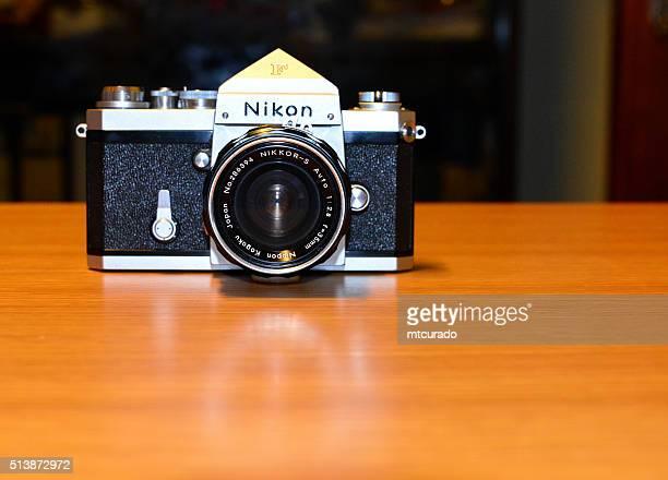 nikon f slr camera - nikon stock pictures, royalty-free photos & images