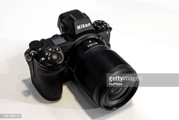 Nikon presents the new full-frame mirrorless Nikon Z6 cameras and 35mm f/1.8 lens with Z mount lens system in Paris Salon de la photo on November 9,...