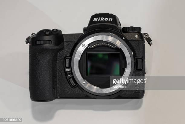 Nikon presents the new fullframe mirrorless Nikon Z7 with the new Z mount lens system in Paris Salon de la photo on November 9 2018