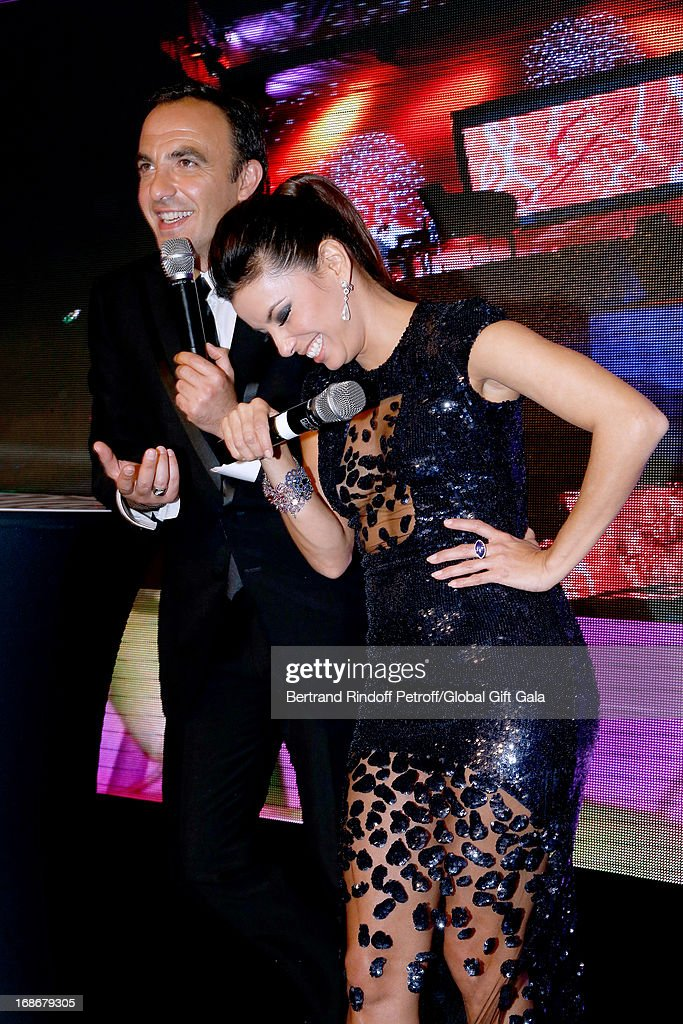 Nikos Aliagas and Eva Longoria present 'Global Gift Gala' at Hotel George V on May 13, 2013 in Paris, France.