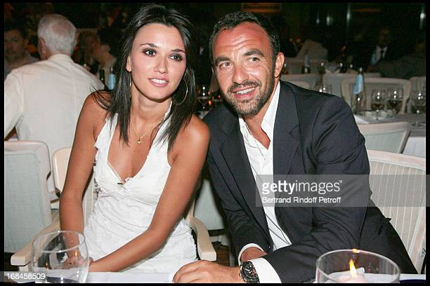 Nikos Aliagas and his friend Lota attend a dinner followingNana Mouskouri's Farewell Concert At Odeon Herodes Atticus In Athens