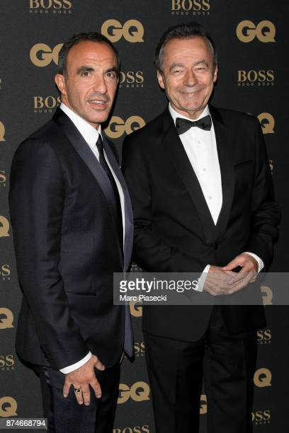 Nikos Aliagas and Michel Denisot attend the 'GQ Men of the year awards 2017' at Le Trianon on November 15 2017 in Paris France