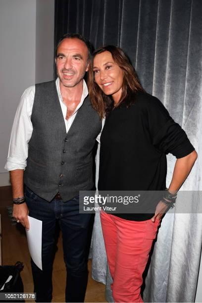 Nikos Aliagas and Zazie attend 'Les Amis de Yann ArthusBertrand se Vendent aux Encheres' Auction in Domaine de Longchamps on October 14 2018 in Paris...