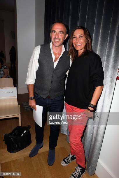 Nikos Aliagas and Zazie attends 'Les Amis de Yann ArthusBertrand se Vendent aux Encheres' Auction in Domaine de Longchamps on October 14 2018 in...
