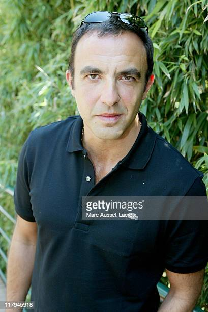 Nikos Aliagas arrives at the 'Village' the VIP quarter of the French Tennis Open at Roland Garros arena in Paris France on June 8 2006