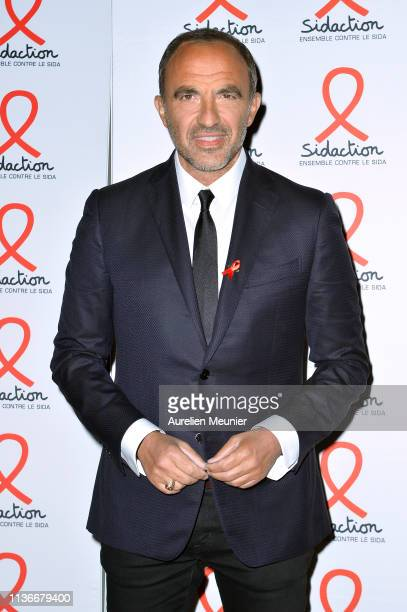 Nikos Aliagas attends the Sidaction 2019 photocall at Salle Wagram on March 18 2019 in Paris France