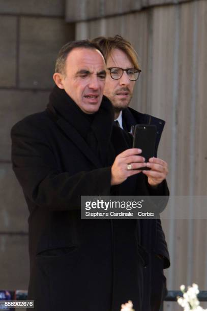 Nikos Aliagas during Johnny Hallyday's funeral at Eglise De La Madeleine on December 9 2017 in Paris France France pays tribute to Johnny Hallyday...