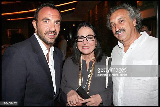 Nikos Aliagas Nana Mouskouri Gerard Pulicino attend a dinner followingNana Mouskouri's Farewell Concert At Odeon Herodes Atticus In Athens