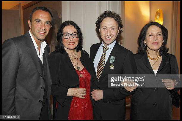 Nikos Aliagas Nana Mouskouri Princesse Marina De Grece at Stephane Bern Is Honoured At His Paris Home With The Title Of Officier De L'Ordre Des Arts...