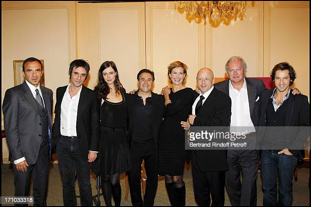 Nikos Aliagas Samuel Benchetrit Anna Mouglalis Jose Garcia Carole Bouquet Le Chef Thierry Marx Hubert of Bouard Frederic Diefenthal at Dinner At...