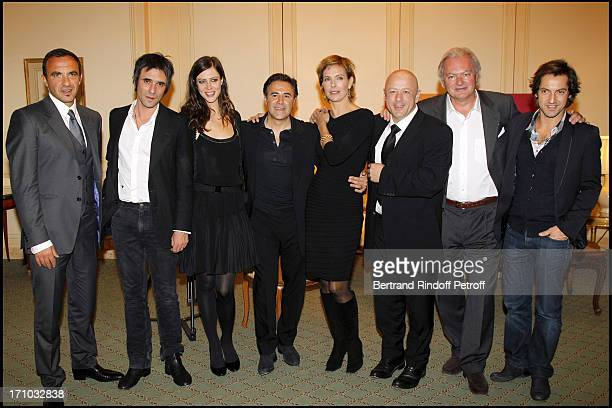 Nikos Aliagas Samuel Benchetrit Anna Mouglalis Jose Garcia Carole Bouquet Chef Thierry Marx Hubert of Bouard Frederic Diefenthal at Dinner At Hotel...