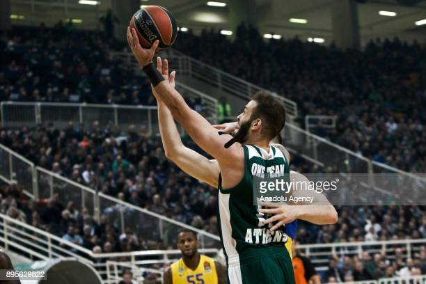 Nikos Pappas of Panathinaikos Superfoods Athens in action during the Turkish Airlines Euroleague basketball match between Panathinaikos Superfoods...