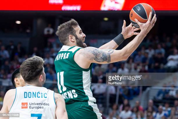 Nikos Pappas of Panathinaikos Superfoods Athens in action during the Turkish Airlines Euroleague Play Offs Game 4 between Real Madrid v Panathinaikos...