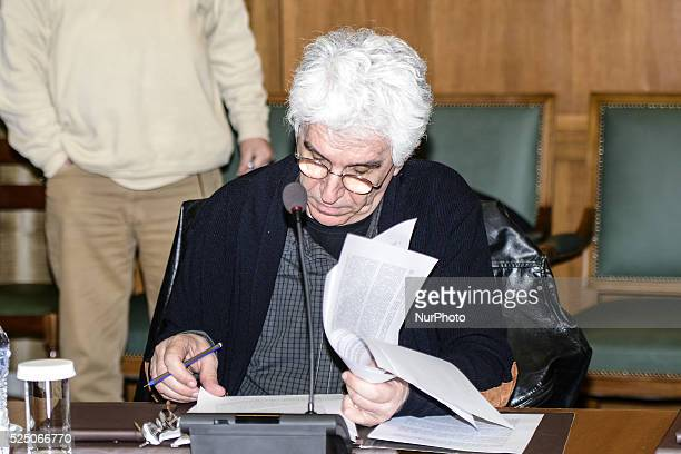 Nikos Paraskevopoulos Minister of Justice during a meeting of the Governmental Council of Greece on March 29 2015 in Athens at the Hellenic...