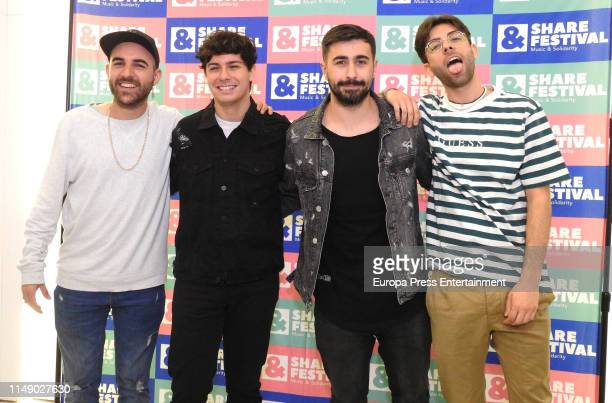 Nil Moliner, Alfred Garcia, Rayden and Don Patricio attend 'Share Festival 2019' presentation on May 13, 2019 in Madrid, Spain.