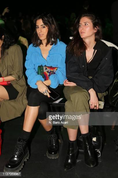 Nil Ninat and guests attend the MercedesBenz Fashion Week Istanbul March 2019 at Zorlu Center on March 20 2019 in Istanbul Turkey