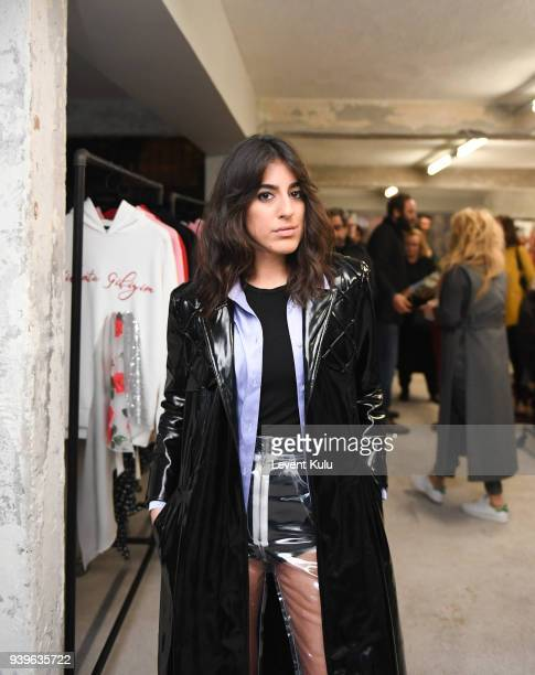 Nil Ninat attends the Asli Filinta show during Mercedes Benz Fashion Week Istanbul at on March 29 2018 in Istanbul Turkey