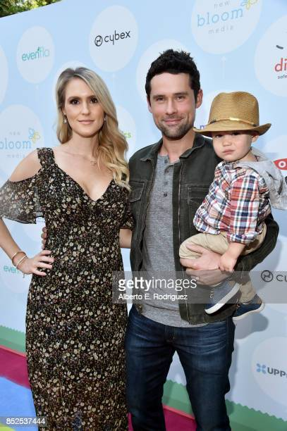 Nila Myers, Ben Hollingsworth and family at Step 2 Presents 6th Annual Celebrity Red CARpet Safety Awareness Event on September 23, 2017 in Culver...
