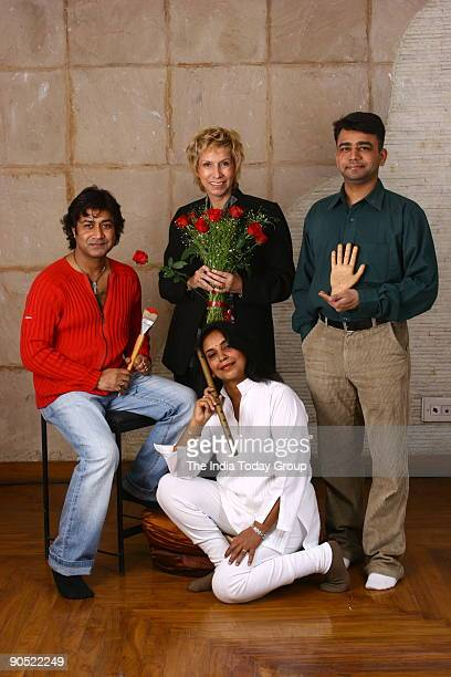 Niladri Paul with Blossam Kochar Dr Pradeep Sharma Dr Neelam Sharma posing for the photograph in New Delhi India on Wednsday January 25 2006