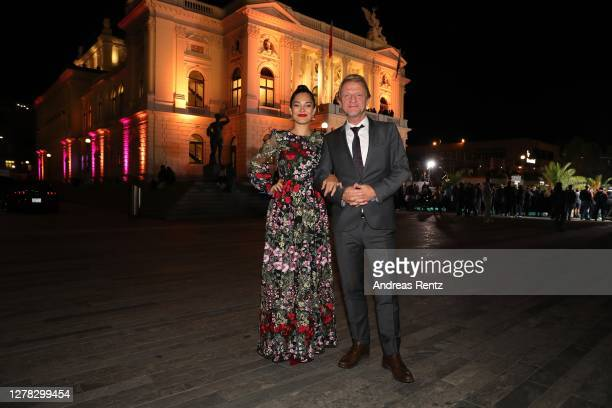 Nilam Farooq and Soenke Wortmann arrive for the Award Night Ceremony of the 16th Zurich Film Festival at Opera House on October 03, 2020 in Zurich,...