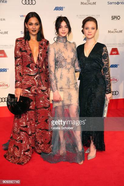 Nilam Farooq Anna Lena Klenke and Sonja Gerhardt during the German Film Ball 2018 at Hotel Bayerischer Hof on January 20 2018 in Munich Germany