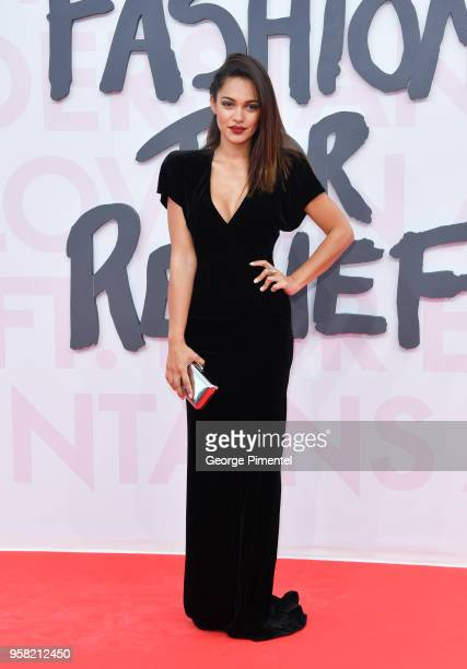 Nilam Farooq attends Fashion For Relief Cannes 2018 during the 71st annual Cannes Film Festival at Aeroport Cannes Mandelieu on May 13 2018 in Cannes...
