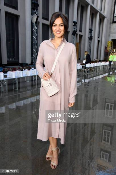 Nilam Farooq attends the Marina Hoermanseder show during the Berliner Mode Salon Spring/Summer 2018 at Kronprinzenpalais on July 7 2017 in Berlin...